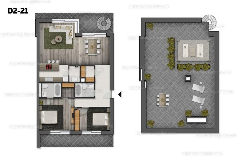 CapeTown Villapart - 3 szoba erkéllyel