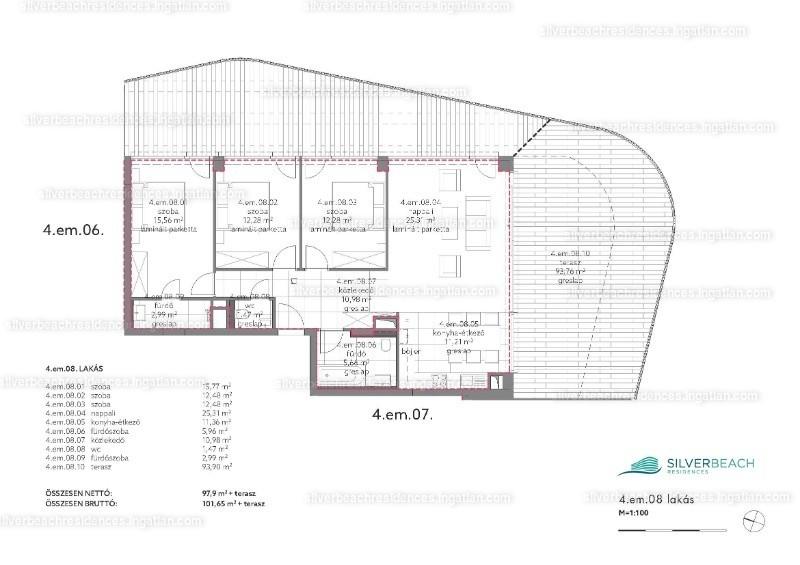 Silverbeach Residences - 4 szoba erkéllyel