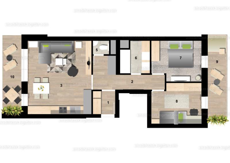 Amadé Házak - 3 szoba erkéllyel