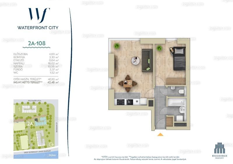 Waterfront City - 2 szoba