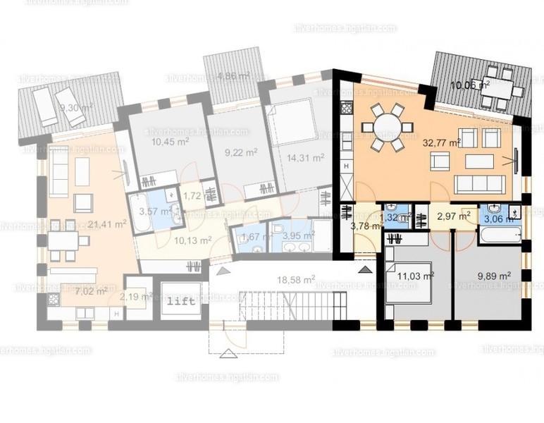 Silver Homes - 3 szoba erkéllyel