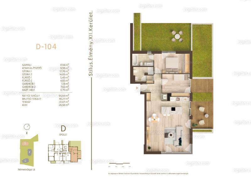 Németvölgyi Residence - 3 szoba kertkapcsolattal