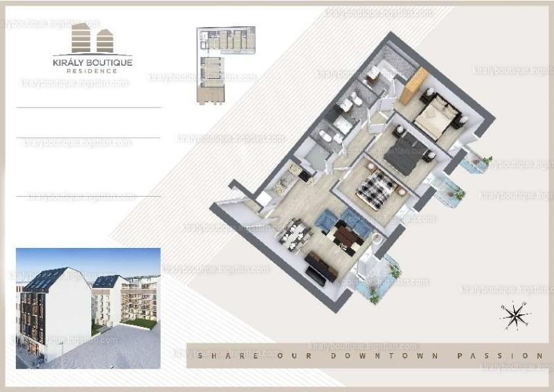Király Boutique Residence - 4 szoba erkéllyel
