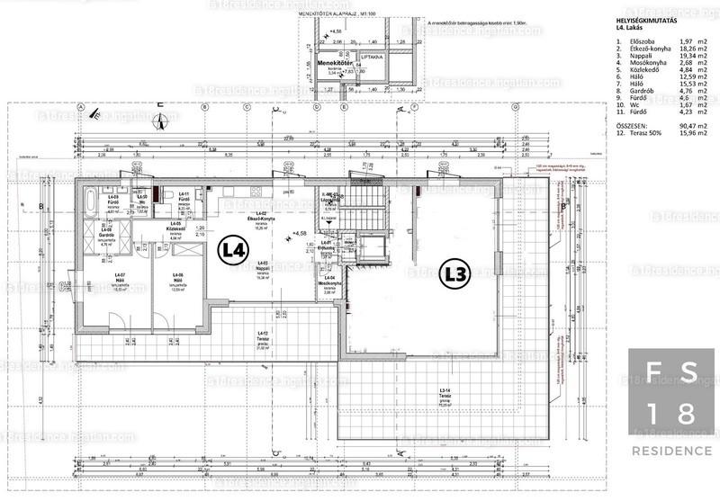 FS18 Residence - 3 szoba erkéllyel