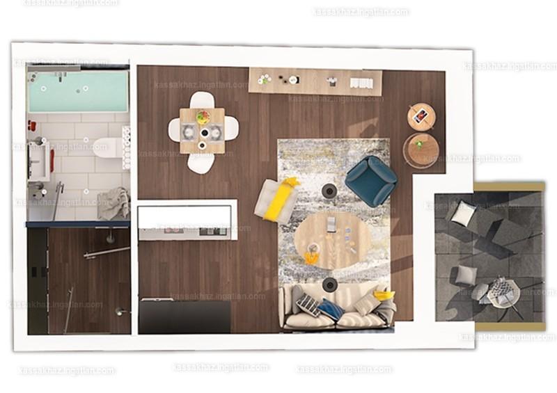 Kassák Ház - 1 szoba erkéllyel