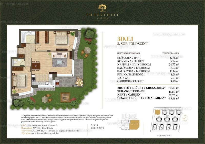 Forest Hill - 3 szoba kertkapcsolattal