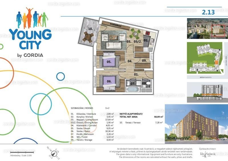 Young City 3 by Cordia - 3 szoba erkéllyel