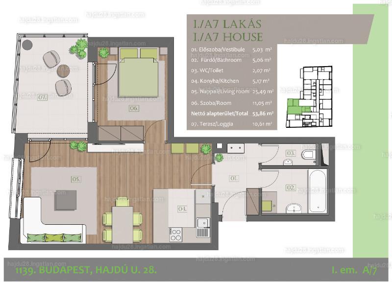 Hajdu28 - 2 szoba erkéllyel