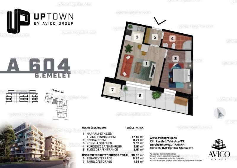 UpTown - 2 szoba erkéllyel