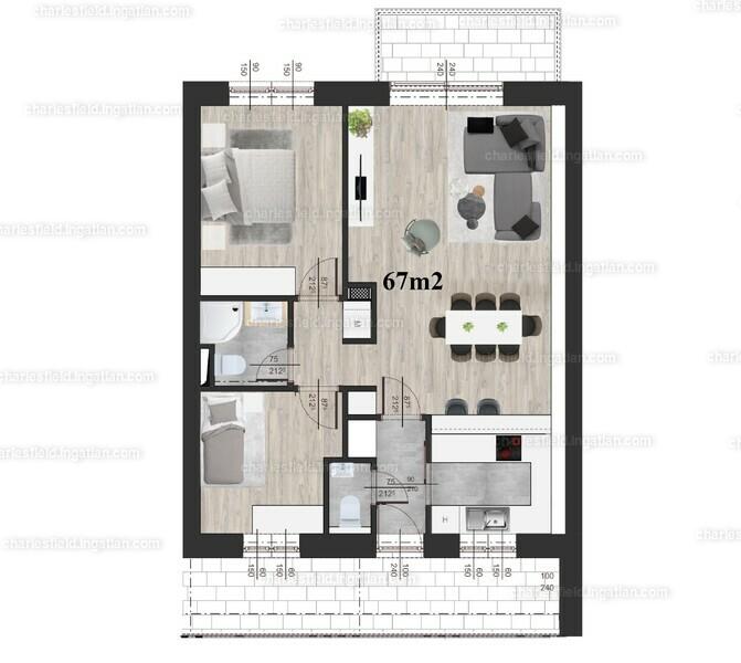 Charles Field - 3 szoba erkéllyel