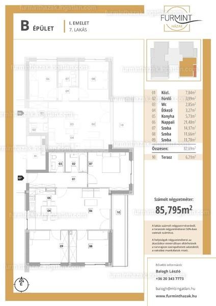 Furmintházak - 4 szoba erkéllyel