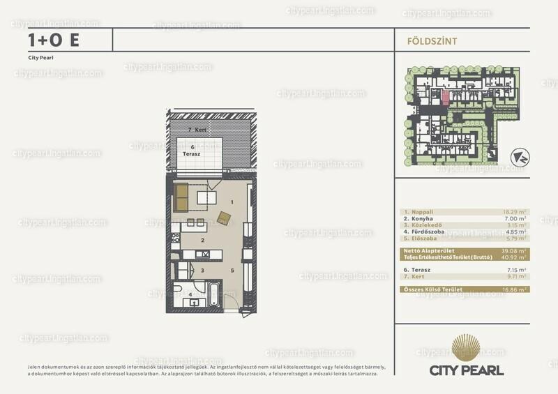 City Pearl Budapest - 1 szoba kertkapcsolattal