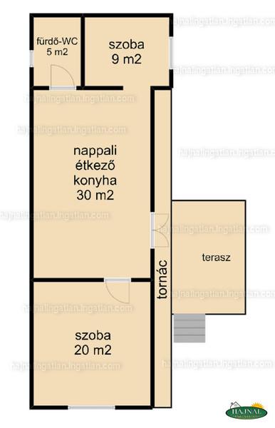 Ingatlan, eladó ház, Endrőc, Dózsa György utca 17., 63 m2