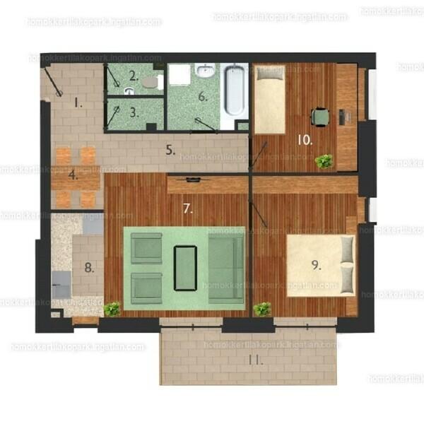 Homokkerti Lakópark - 3 szoba erkéllyel
