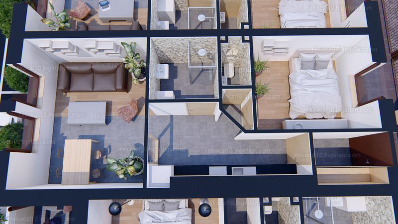 Rákóczi10 Lakópark - 2 szoba