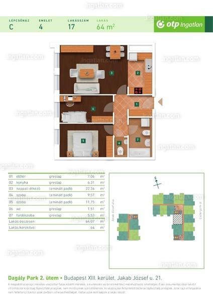 Dagály Park 2. ütem - 1 + 2 szoba