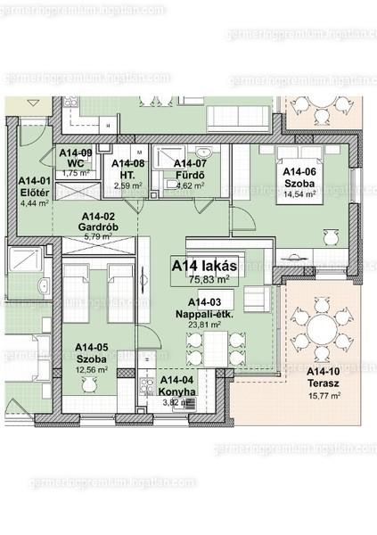 Germering Prémium Társasház - 3 szoba erkéllyel