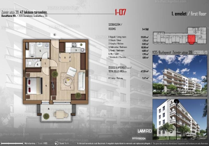 Írisz ház - 2 szoba erkéllyel