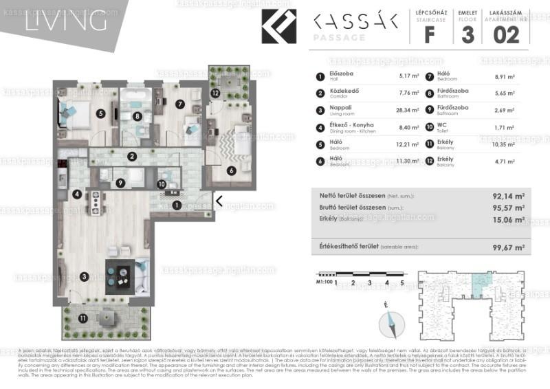 Kassák Passage - 2 + 2 szoba erkéllyel