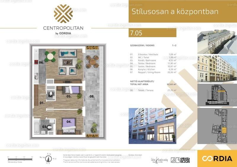 Centropolitan by Cordia - 3 szoba erkéllyel
