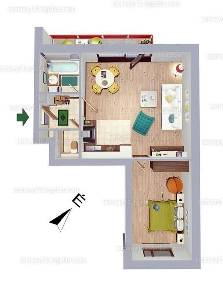 Semsey 16 - 2 szoba erkéllyel