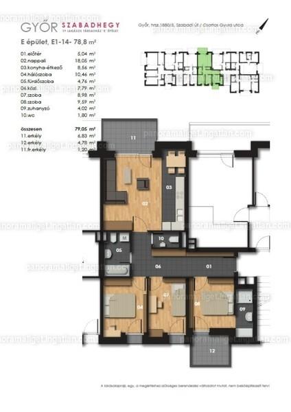 Panoráma Liget - 4 szoba erkéllyel