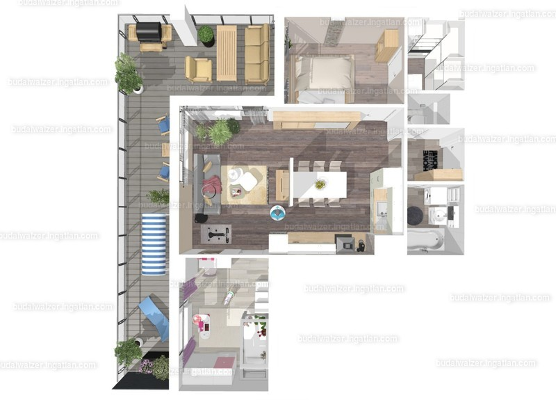 Budai Walzer I. ütem - 2 + 1 szoba erkéllyel