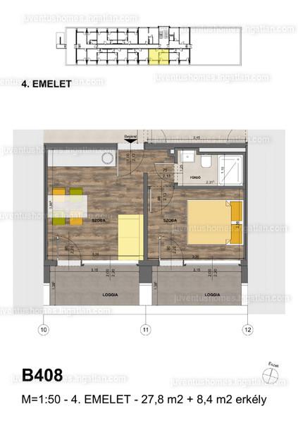 Juventus Homes - 2 szoba erkéllyel