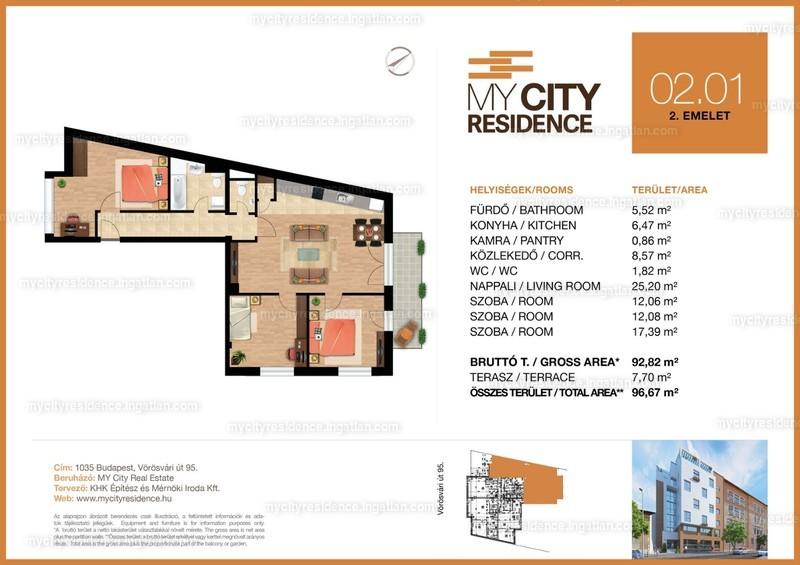 MyCity Residence - 4 szoba erkéllyel