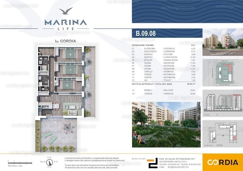 Marina Life by Cordia - 4 szoba erkéllyel