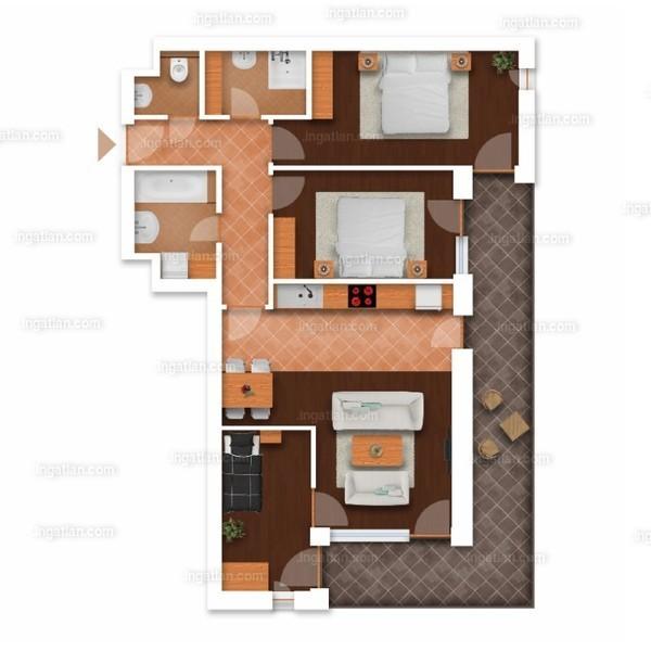 Somfa Liget VII. ütem - 2 + 2 szoba erkéllyel