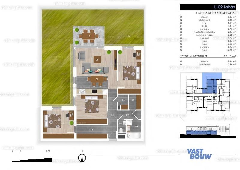 Zöld Sziget Lakások - 4 szoba kertkapcsolattal
