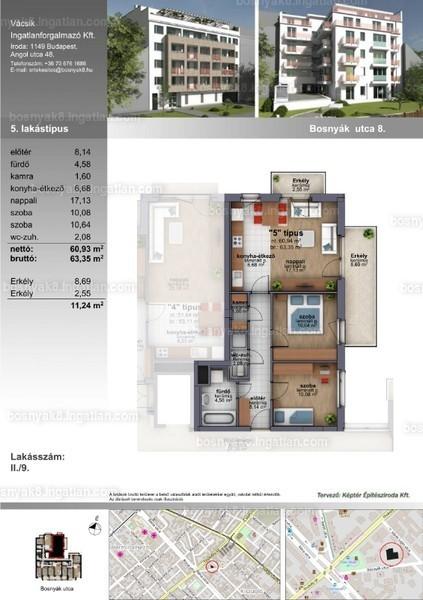 B8 Zugló - 3 szoba erkéllyel