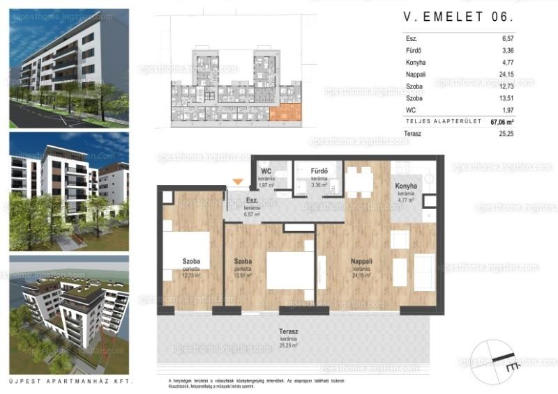 Reitter 66-68 Társasház - 3 szoba erkéllyel