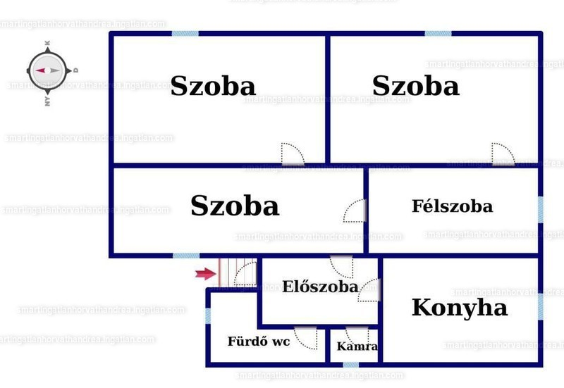 Ingatlan, eladó ház, Mánfa, Kaposvári út, 90 m2