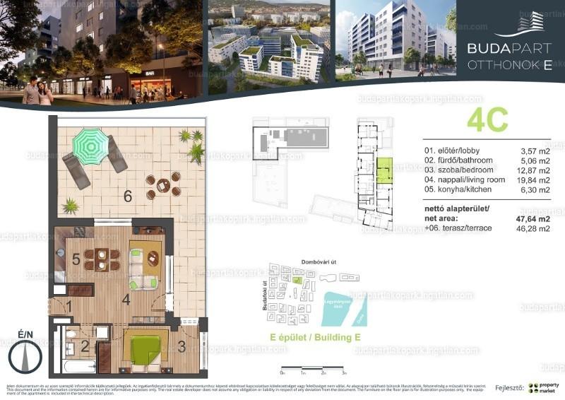 BudaPart - 2 szoba erkéllyel