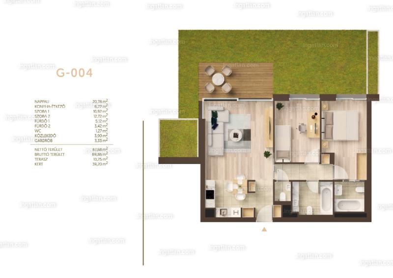 Németvölgyi Residence - 2 szoba kertkapcsolattal