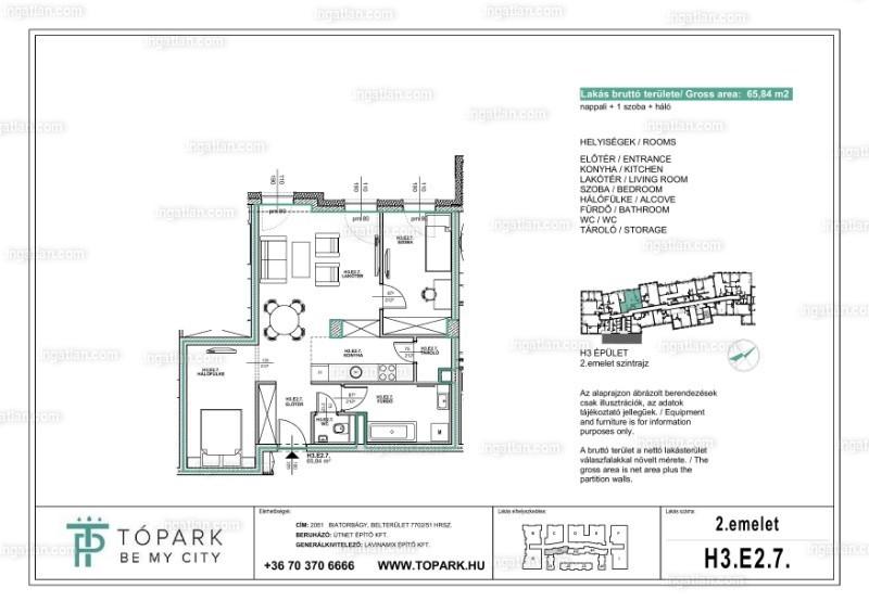 2 + 1 szoba
