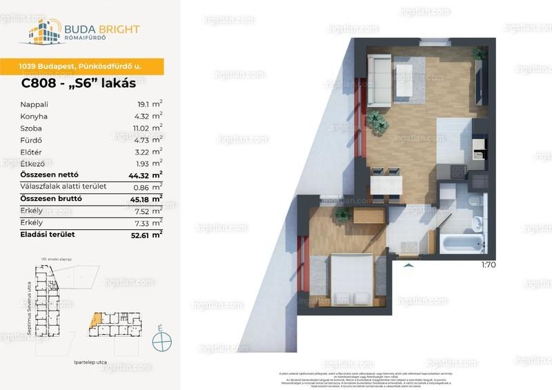 2 szoba erkéllyel