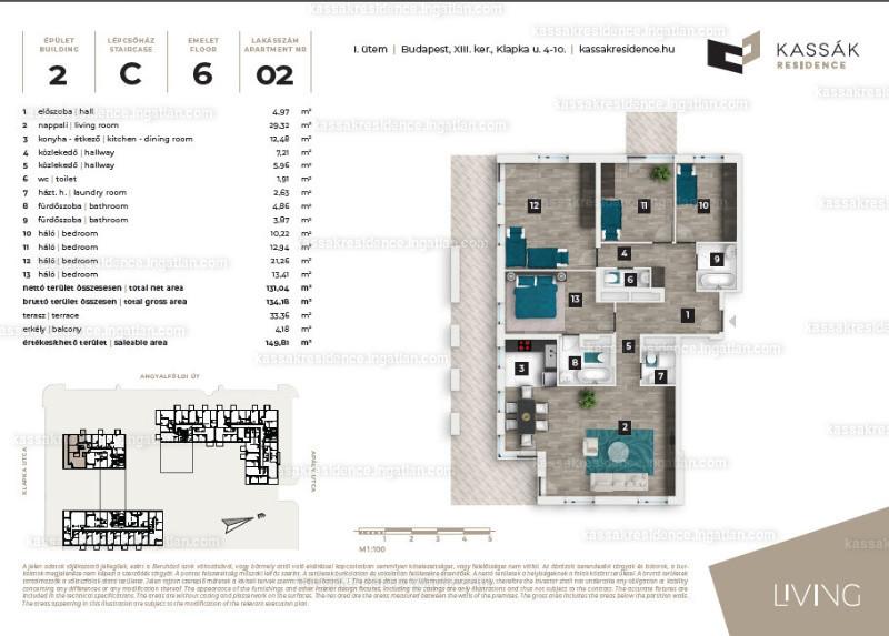 Kassák Residence - 4 + 1 szoba kertkapcsolattal