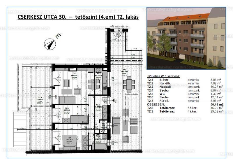 Cserkesz Lakóház - 2 + 1 szoba erkéllyel