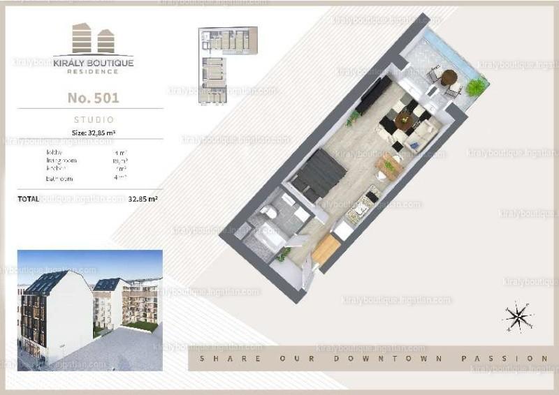 Király Boutique Residence - 1 szoba erkéllyel