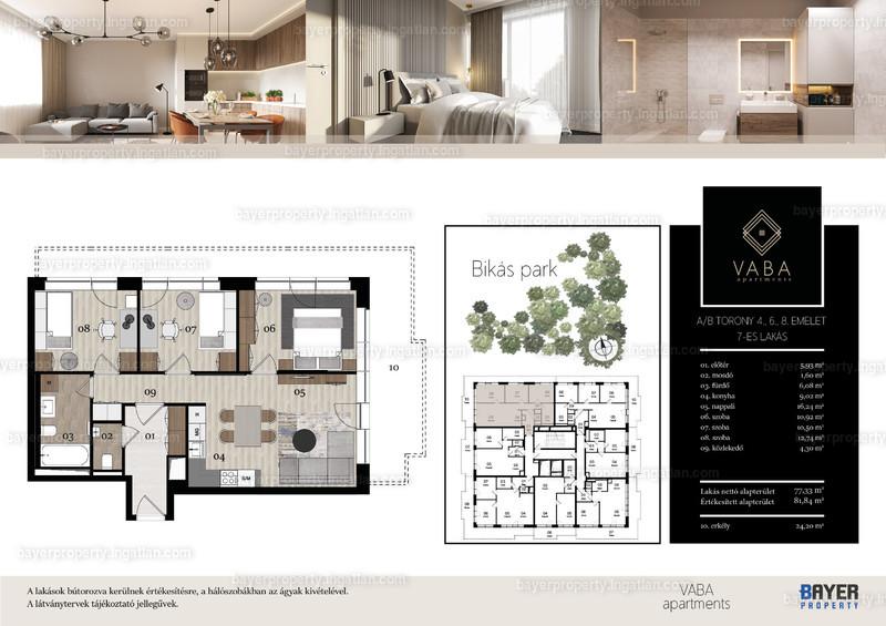 VABA Apartments - 4 szoba erkéllyel