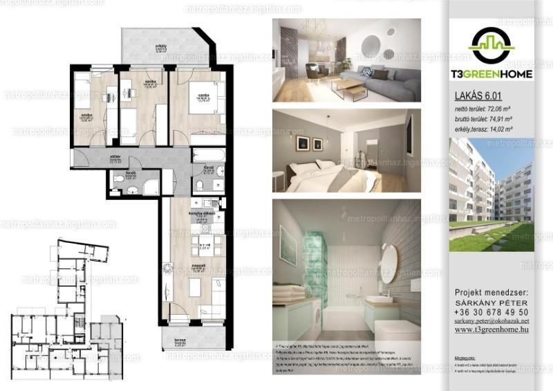 T3 Green Home - 4 szoba erkéllyel