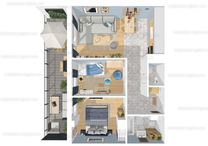 Budai Walzer I. ütem - 1 + 2 szoba erkéllyel