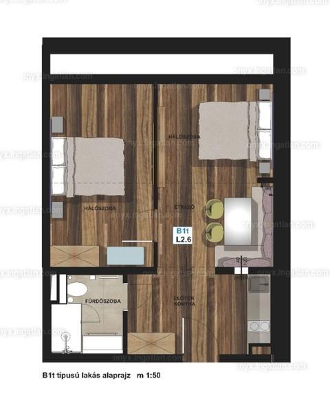 ONYX **** Luxury II. ütem - 2 szoba