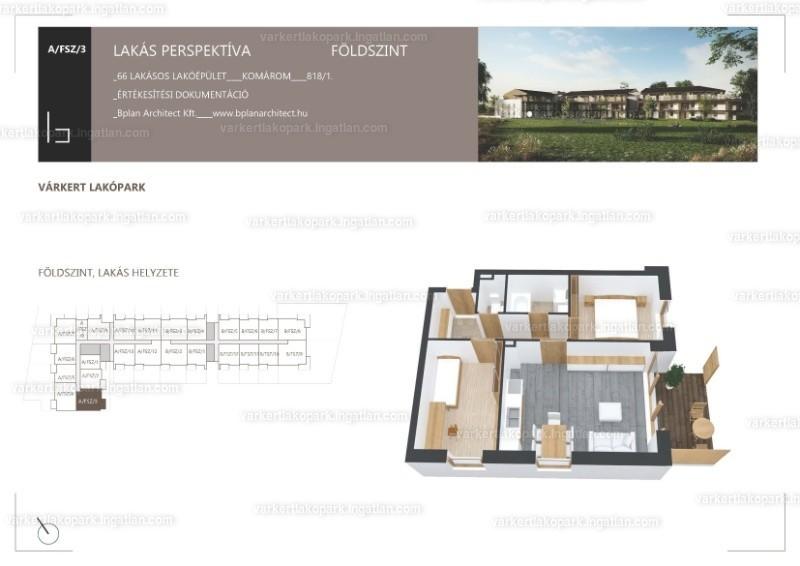 Várkert Lakópark - 3 szoba erkéllyel