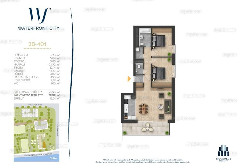 Waterfront City - 3 szoba erkéllyel