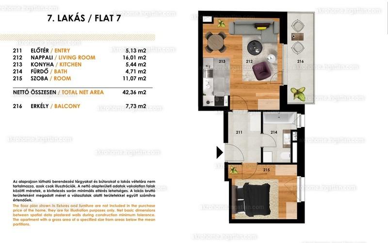 Tolnai Residence - 2 szoba erkéllyel