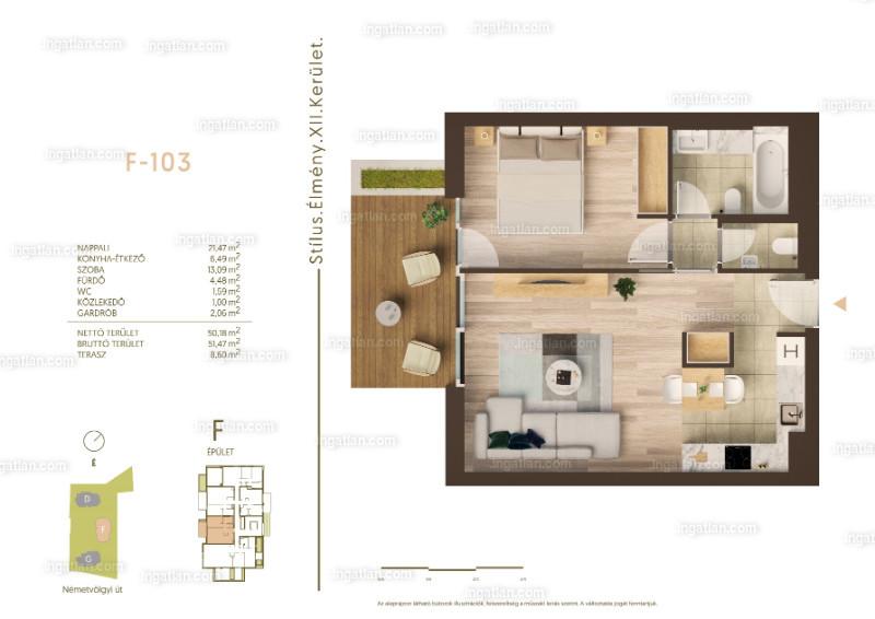 Németvölgyi Residence - 2 szoba erkéllyel